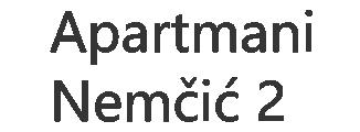 Apartmani Nemčić